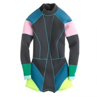 Cynthia Rowley® for J.Crew colorblock wetsuit in graphite
