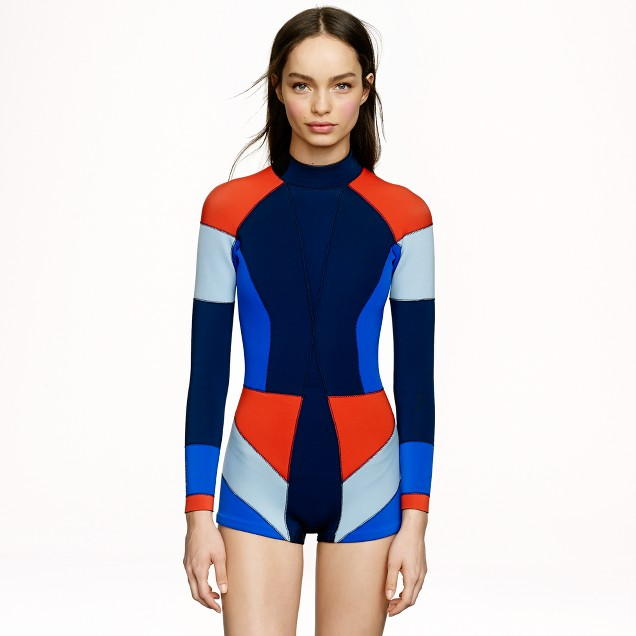 Cynthia Rowley® for J.Crew colorblock wetsuit in navy