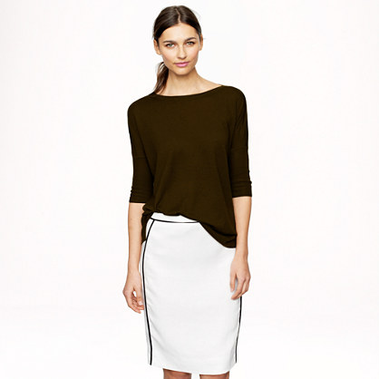 Collection cashmere drapey boatneck sweater