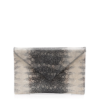Stationery clutch in embossed leather