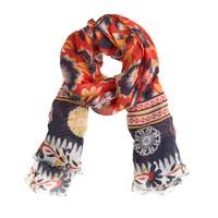 Floral medallion scarf