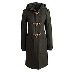 Petite wool melton toggle coat