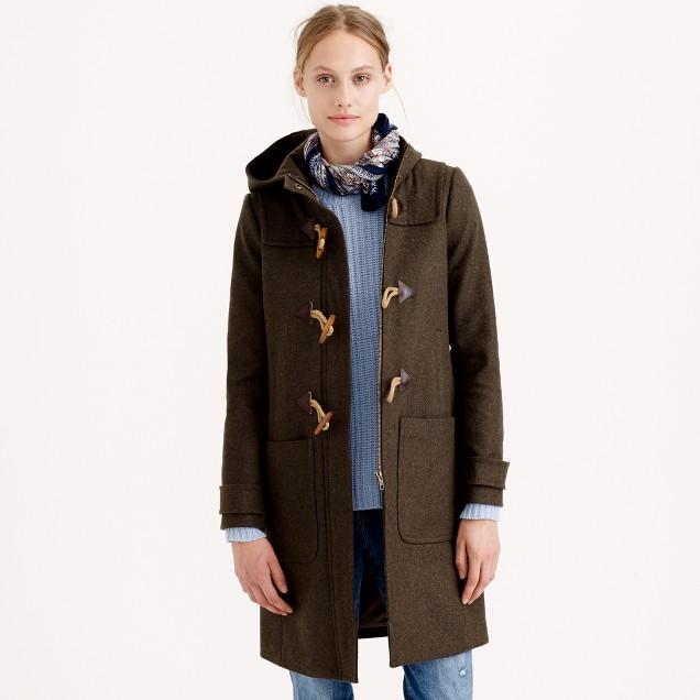 Petite wool melton toggle coat : Women Jackets & Outerwear | J.Crew