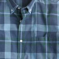 Secret Wash shirt in heather blue plaid