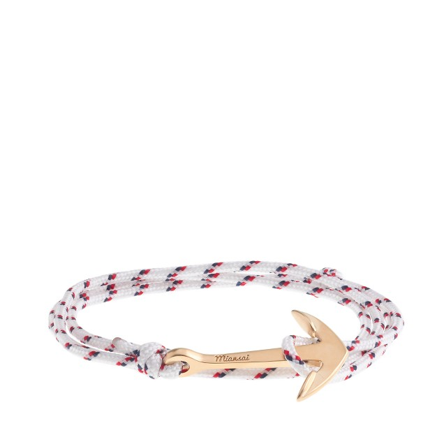 Miansai® brushed-gold anchor rope bracelet