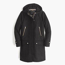 Tall wool melton duffle coat