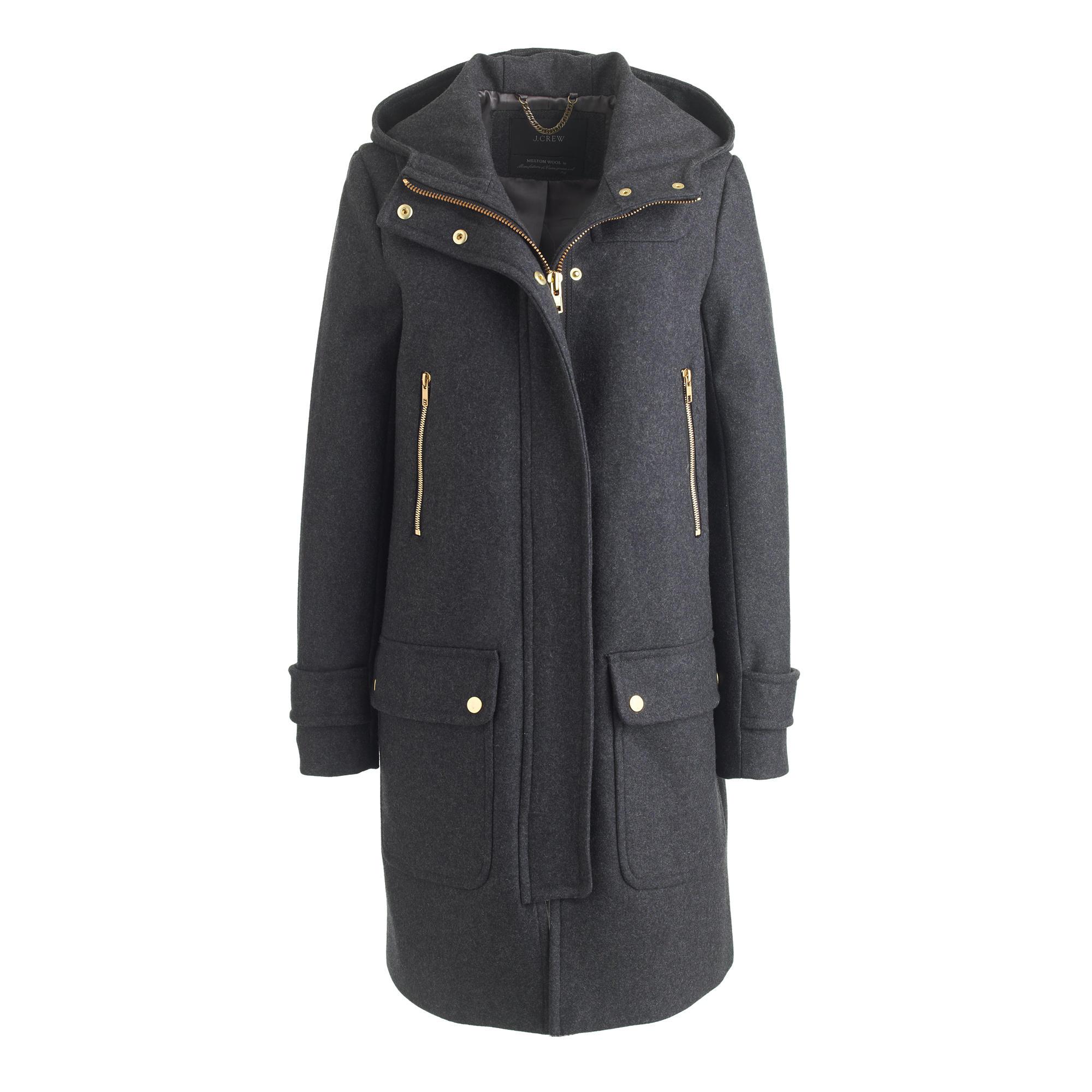 Petite wool melton duffle coat : | J.Crew