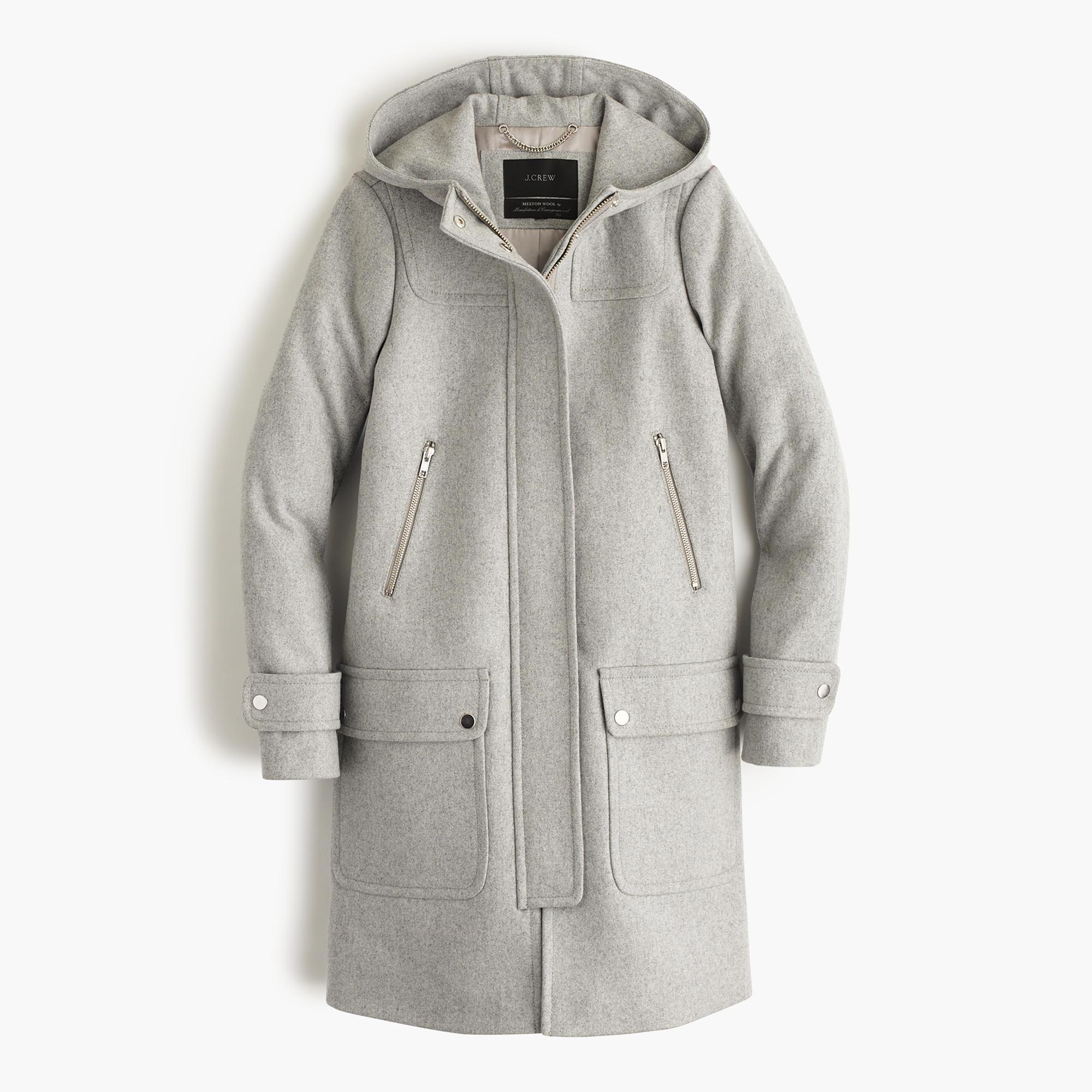 Wool melton duffle coat : | J.Crew