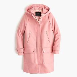 Tall wool melton duffle coat