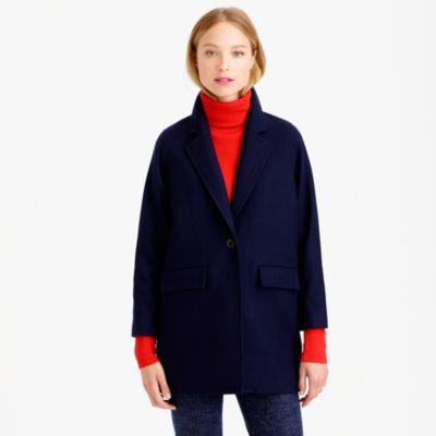 Petite wool melton boyfriend coat : | J.Crew