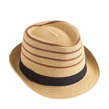 Kids' stripe trilby hat
