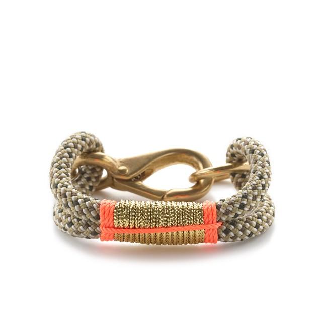 The Ropes™ metallic Cape Elizabeth 7mm rope bracelet