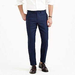 Bowery classic pant in glen plaid wool
