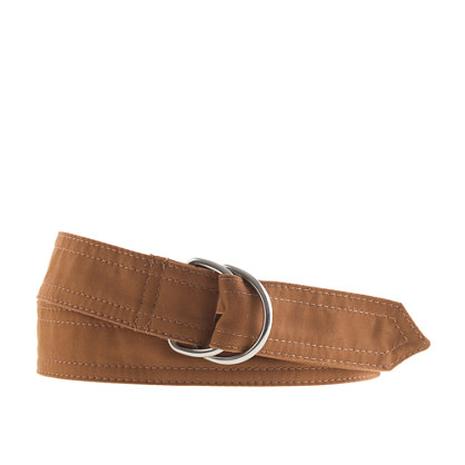 Chino canvas D-ring belt