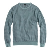 Tall cotton-cashmere sweater in microstripe
