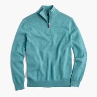 Slim cotton-cashmere half-zip sweater