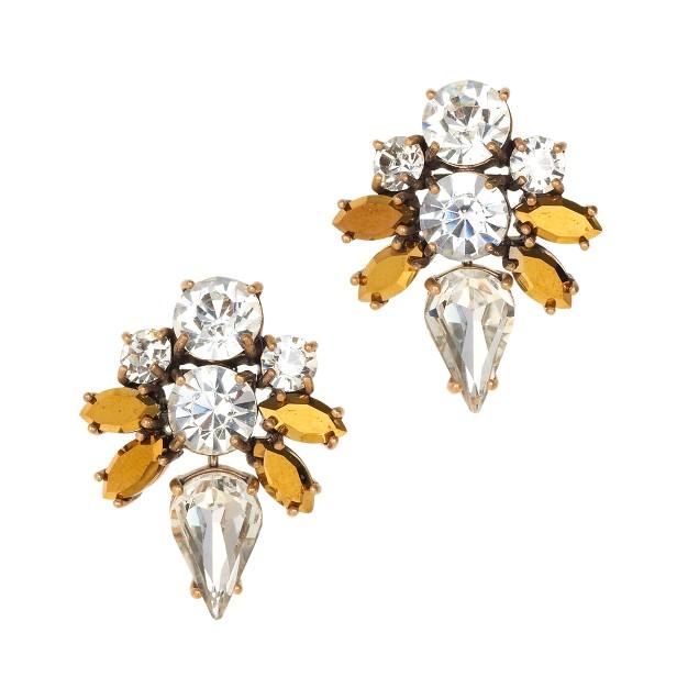 Jeweled arrow earrings