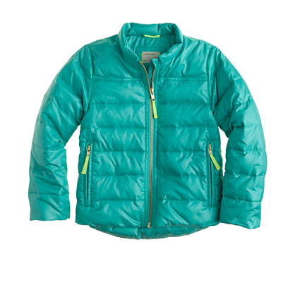 Girls' shiny puffer jacket