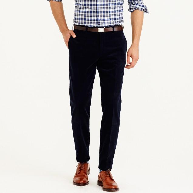 Ludlow suit pant in Italian corduroy