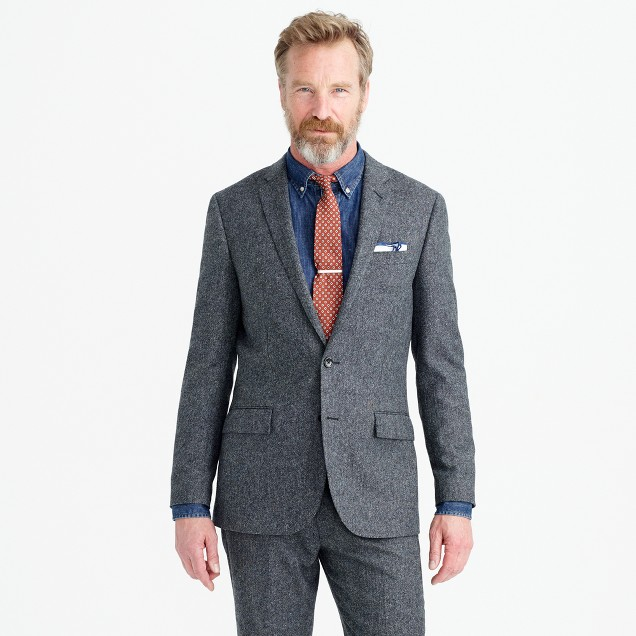 Ludlow suit jacket in English Donegal wool