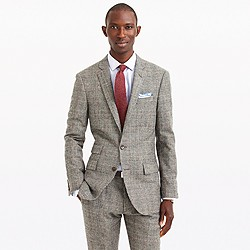 Ludlow suit jacket in glen plaid English wool
