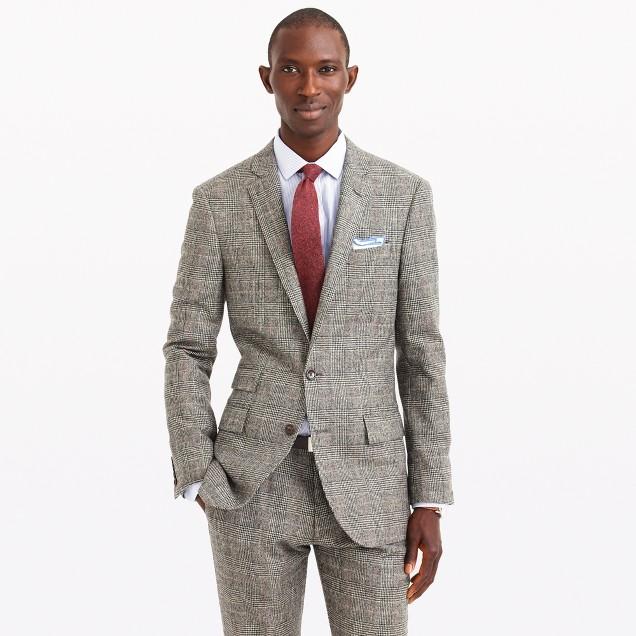 Ludlow suit jacket in glen plaid English wool