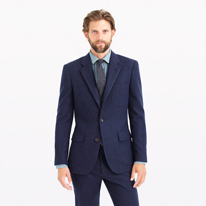 Ludlow fielding suit jacket in water-resistant Italian wool
