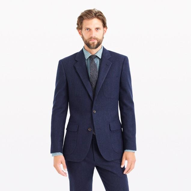 Ludlow fielding suit jacket in water-resistant Italian wool
