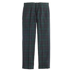 Ludlow tuxedo pant in black watch English wool