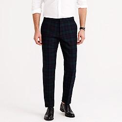 Ludlow tuxedo pant in black watch English wool