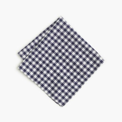 Cotton pocket square in gingham