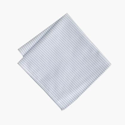 Cotton pocket square in rustic stripe