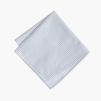 Cotton pocket square in rustic stripe