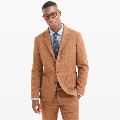 Wallace & Barnes suit jacket in herringbone English wool tweed