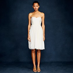Side-swoop dress in silk chiffon