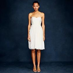 Side-swoop dress in silk chiffon