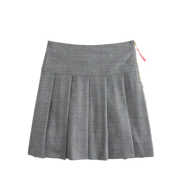 Girls' pleated flannel skirt