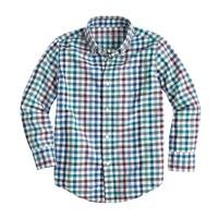 Boys' Secret Wash shirt in multi-gingham
