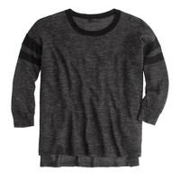 Tunic sweater in stripe