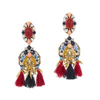 Tassel trim earrings