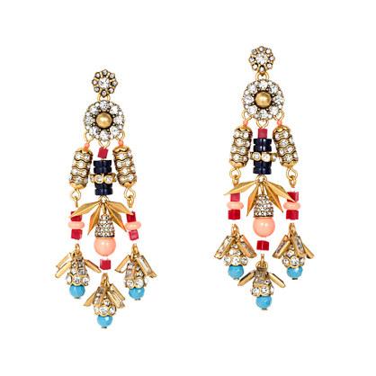 Jeweled color burst earrings
