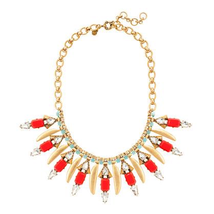 Poppy fringe necklace