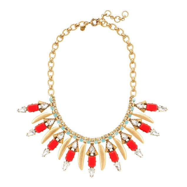 Poppy fringe necklace