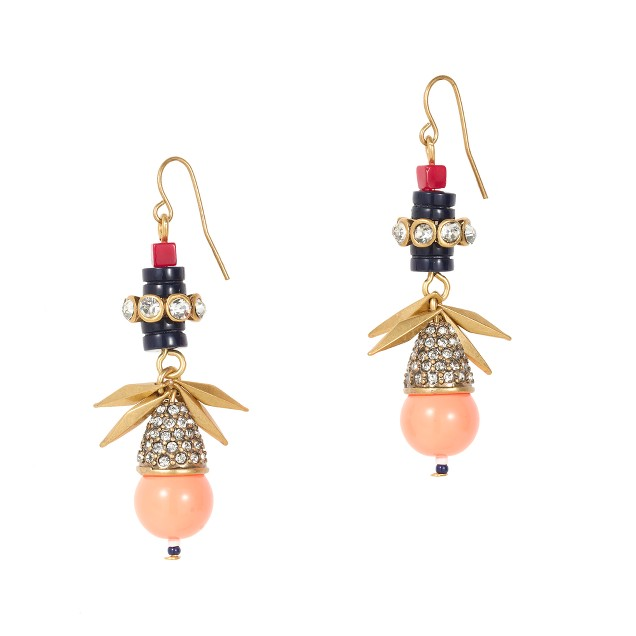 Persimmon drop earrings