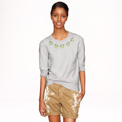 Jeweled sweatshirt