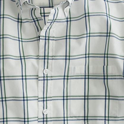 Secret Wash shirt in gatehouse green check