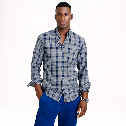 Jaspé cotton shirt in multiplaid