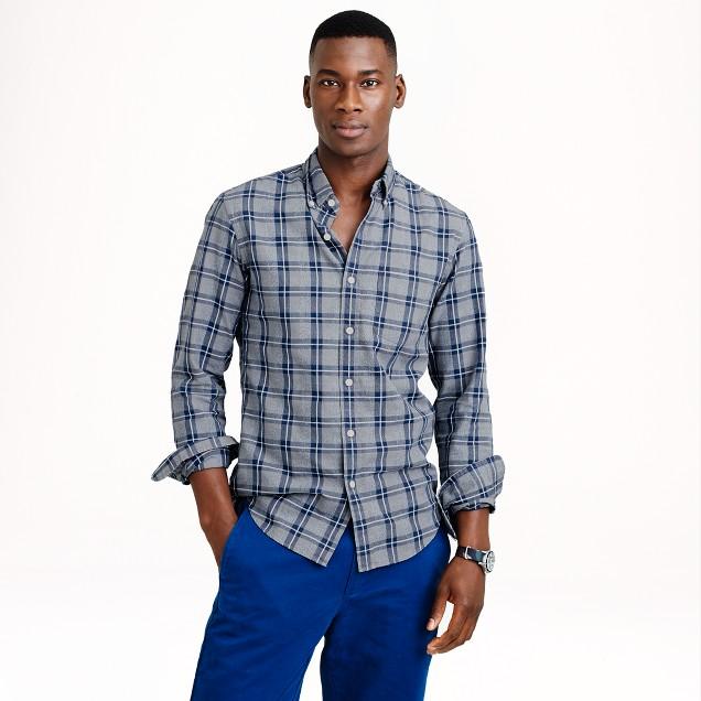 Jaspé cotton shirt in multiplaid