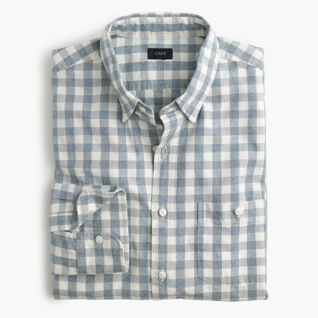 Jaspé cotton shirt in gingham