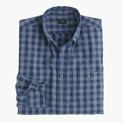 Jaspé cotton shirt in gingham